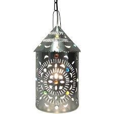 merida lantern w marbles natural finish