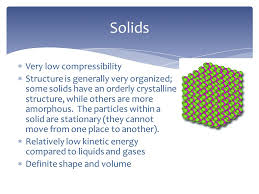 compressibility chemistry. very low compressibility  structure is generally organized; some solids have an orderly chemistry .