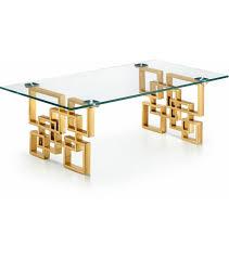 gold geometric base glass top