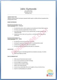 concierge resume sample resume concierge bkkresume concierge