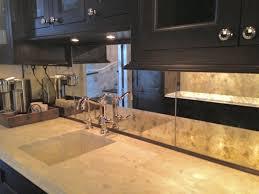 mirror backsplash. antiqued mirror kitchen backsplash