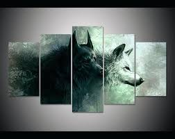 wall art canvas print 5 pieces wolf painting modern home decor debenhams canvases on debenhams wall art canvases with wall art canvas print 5 pieces wolf painting modern home decor