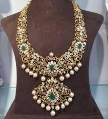 Antique Polki Jewellery Designs Antique Polki Gold Necklace Boutiquedesignerjewellery Com
