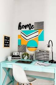 Diy office decorations Homemade Mix And Match Your Canvas Shapes For An Eclectic Statement Piece Over Desk Rooms Rooms Home Decordiy Pinterest 159 Best Office Decor Images In 2019 Hobby Lobby Office Decor