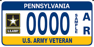 pennsylvania army military registration plates