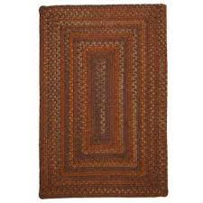 cabin audubon russet 7 ft x 9 ft rectangle braided area rug