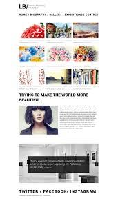 art portfolio template artist portfolio responsive website template 49560
