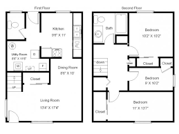 Best 25 3 Bedroom House Ideas On Pinterest  House Floor Plans 4 Bedroom Townhouse Floor Plans