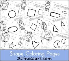 Small Picture 3 Dinosaurs Shape Coloring Pages