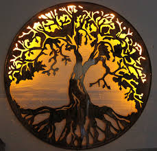 on oak tree large metal wall art with tree of life metal wall art 24 with led lights by hgmw