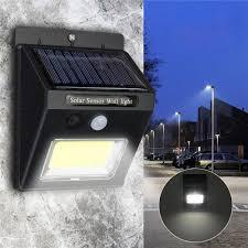 Zonne Energie Super Bright Cob 24 Led Pir Bewegingssensor Wandlamp Buiten Draadloze Waterdichte Lamp