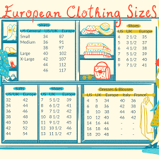 European Size Chart Clothing European Clothing Sizes And Size Conversions