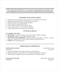 Software Engineer Resume Samples Sample Resume For Software