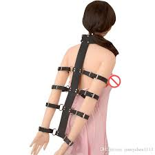 Arm and neck bondage restraints