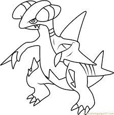Small Picture Gabite Pokemon Coloring Page Free Pokmon Coloring Pages