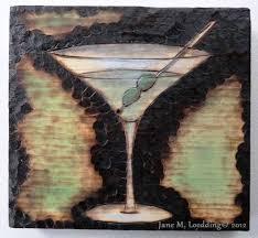 martini bar wall art