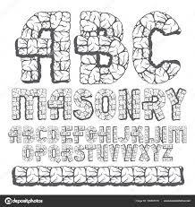 トレンディな古いベクトルの資本の英語のアルファベット文字は 分離され