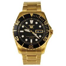 snzf22 snzf22j1 seiko 5 sports automatic mens diver watch seiko 5 sports automatic mens diver gold watch snzf22 snzf22j1
