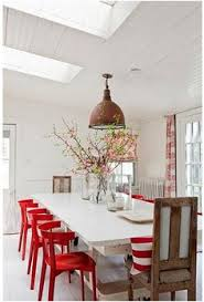 a scarlet letter embracing red red dining chairsdining areakitchen