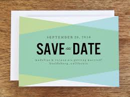 downloadable save the date templates free printable save the date blue green geometric handmade wedding