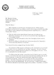 Cover Letter Page 6 The Chaocipher Clearing House Foia Response