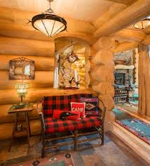 Log Cabin Living Room Decor Diy Log Cabin Decor Living Room Rustic With Red Armchair Small Cabin
