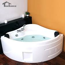 2 person spa bathtub tub shower massage hot led whirlpool wall corner glass acrylic triangular 3