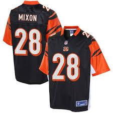 Line Pro Bengals Cincinnati Black Nfl Men's Player Joe Mixon Jersey