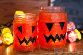 Jam Jar Decorating Ideas Easy Halloween Lanterns Red Ted Art's Blog 92