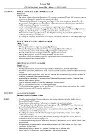 Principal Solutions Engineer Resume Samples Velvet Jobs