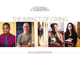 The Impact of Giving by College of Charleston - issuu