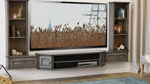 ... Wall Units, Woodwaves Floating TV Stand Wall Mount Entertainment Center  Wall Mounted Tv Cabinets With ...