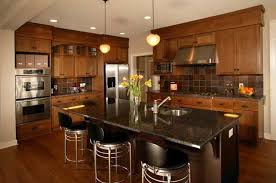 Exceptional ... Kitchen Paint Colors With Oak Cabinets With Countertop And Dining Table  ...