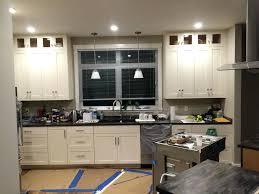 painting corian countertops custom shaker painted pearl cabinetry sorrel painting over corian countertops
