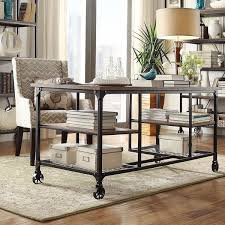 nelson modern rustic storage desk by inspire q classic