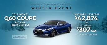 lease the 2017 infiniti q60 coupe 3 0t awd premium plus for only 307 per month or purchase at the of 42 874 here to browse inventory