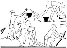 egyptian adze. brick making. drawing: john ide egyptian adze n