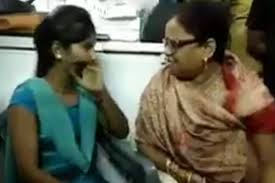 Up Bjp Mahila Morcha Leader Slaps Girl For Sipping Tea With Muslim