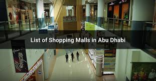 list of ping malls in abu dhabi