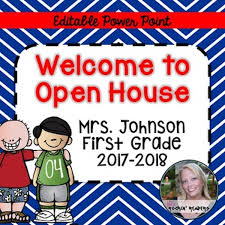 Open House Powerpoint Open House Powerpoint Classroom Freebies