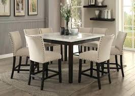 acme furniture nolan counter height 9 piece marble top dining set 9 piece dining table set