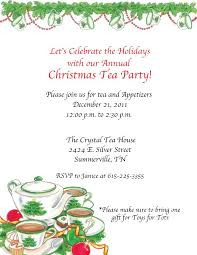 Christmas Tea Party Invitations Christmas Tea Party Wording Christmas Tea Party Christmas