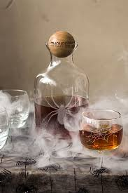 whiskey glass decanter set with engraved stopper
