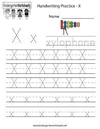 writing letters worksheets for kindergarten kindergarten letter x ...