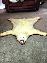 real polar bear rug white bear rug fake polar bear rug with head white bear shaped