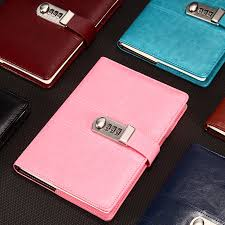 <b>New Leather Notebook</b> paper <b>Diary</b> with Lock code password ...