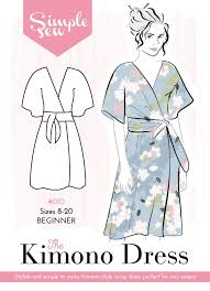 Simple Dress Pattern For Beginners Classy The Simple Sew Kimono Dress