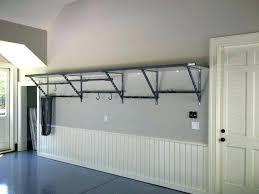 diy garage wall storage garage wall storage shelves garage shelving organizer with grey metal wall shelf