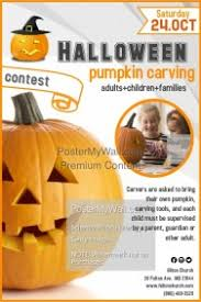 pumpkin carving contest flyer customizable design templates for pumpkin carving contest postermywall