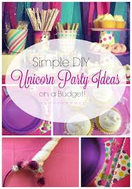 Diy Party Printables Simple Diy Unicorn Party Ideas